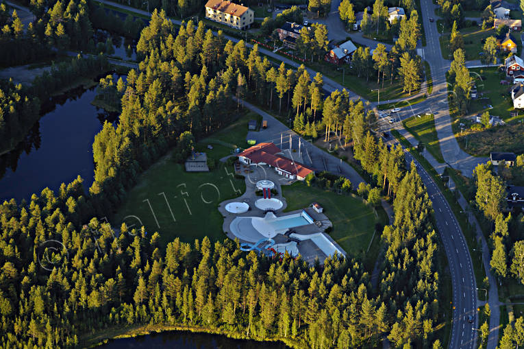 aerial photo, aerial pictures, drone aerial, Lapland, Lycksele, samhällen, summer