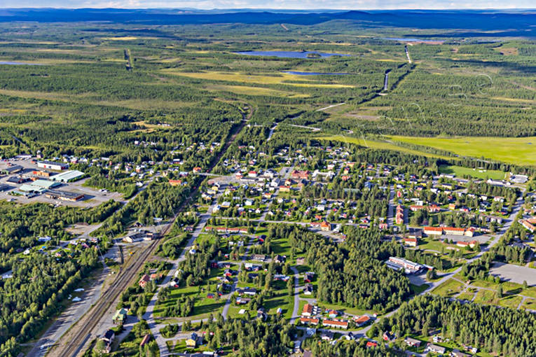 aerial photo, aerial pictures, drone aerial, Jörn, samhällen, summer, West Bothnia