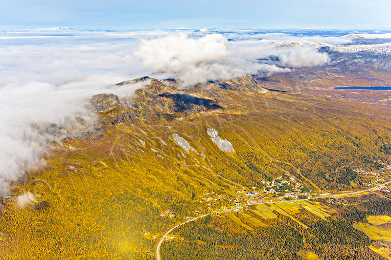 aerial photo, aerial pictures, autumn, drone aerial, Kittelfjall, landscapes, Lapland, mountain pictures, samhällen