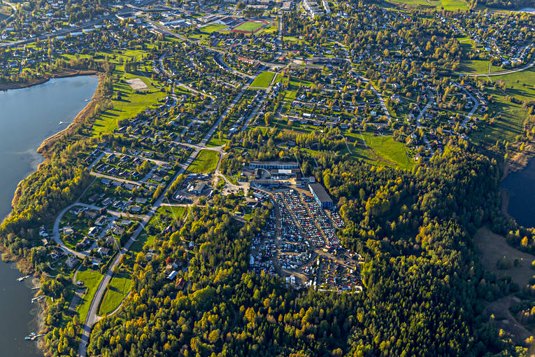 aerial photo, aerial pictures, Angermanland, autumn, drone aerial, Kramfors, samhällen
