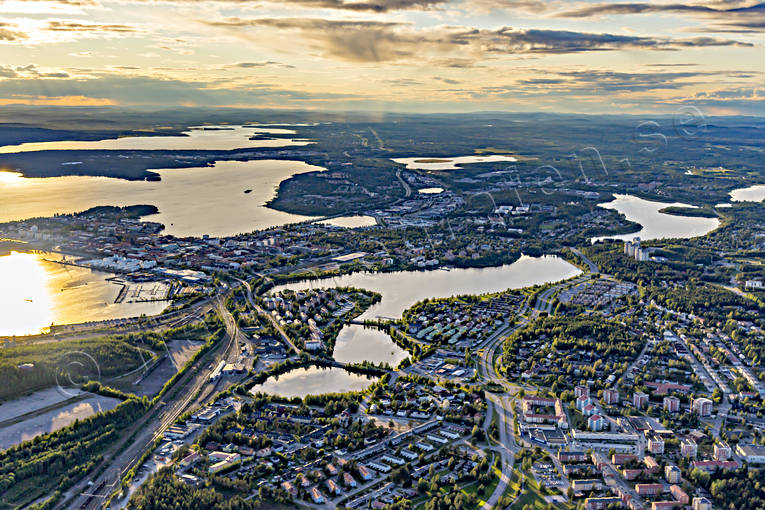 aerial photo, aerial pictures, drone aerial, lule river, Lulea, North Bothnia, städer, summer
