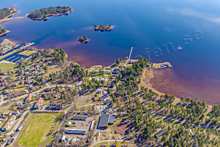 aerial photo, aerial pictures, Dalarna, drone aerial, Orsa, samhällen, spring