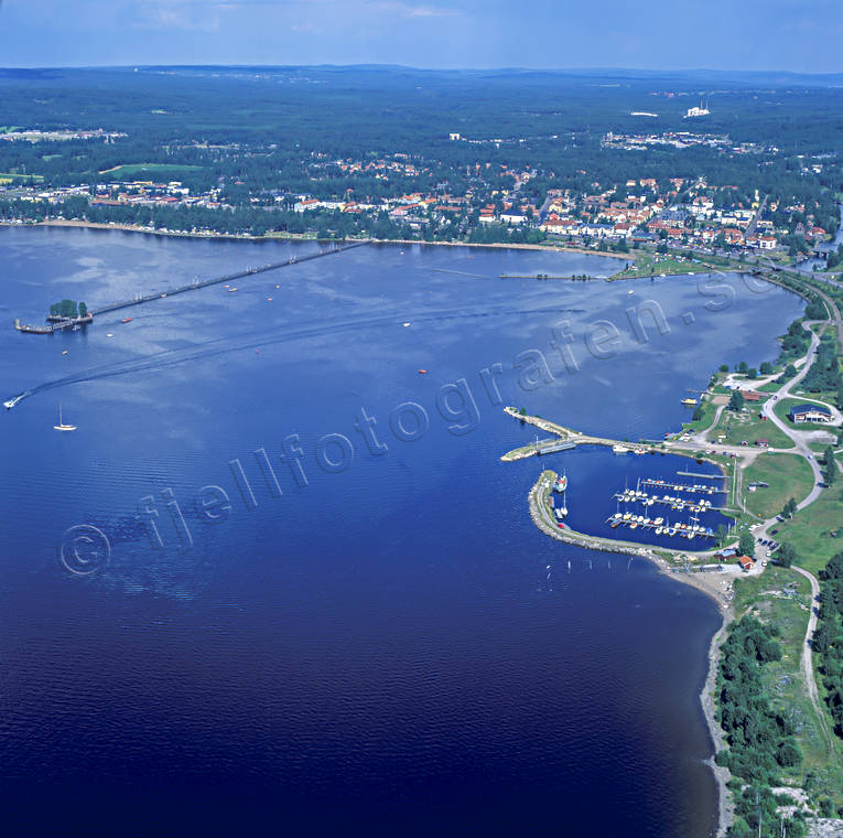 aerial photo, aerial pictures, boat harbour, Dalarna, drone aerial, landscapes, port, Rättvik, samhällen, Siljan, small-boat harbour, summer