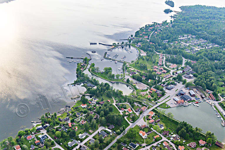 aerial photo, aerial pictures, attractions, channel, communications, drone aerial, Göta kanal, installations, samhällen, Sjötorp, summer, Västergötland, water