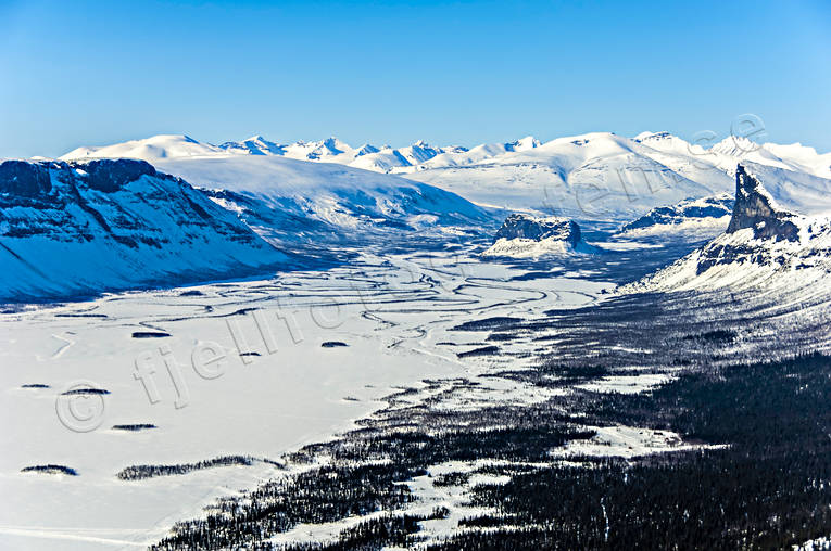 aerial photo, aerial pictures, Aktse, drone aerial, landscapes, Lapland, Nammasj, Nammatj, Rapa Valley, Skierfe, winter