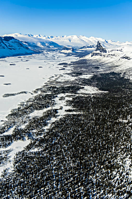 aerial photo, aerial pictures, Aktse, drone aerial, landscapes, Lapland, mountain forest, Nammasj, Nammatj, Rapa Valley, Skierfe, winter