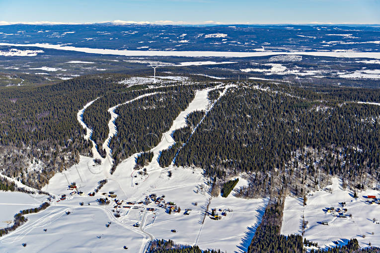 aerial photo, aerial photo, aerial photos, aerial photos, Almasa, drone aerial, drönarfoto, Jamtland, journeys down, landscapes, Offerdal, ski resort, ski resort, ski slopes, villages, winter