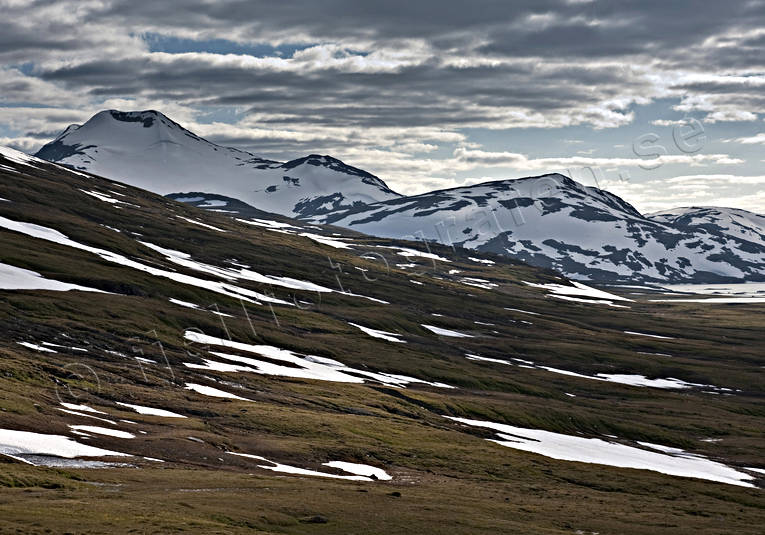 alpine, alpine landscape, landscapes, Lapland, mountain, mountain top, nature, Padjelanta, snow