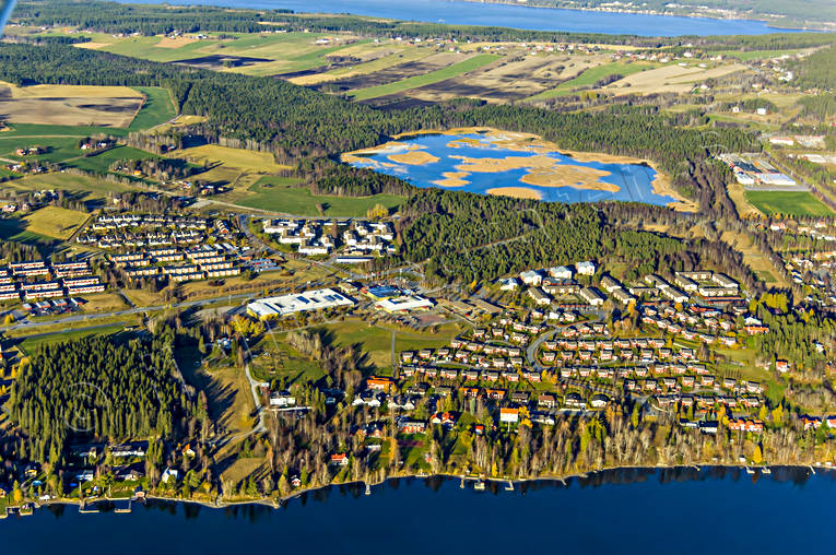 aerial photo, aerial pictures, And lake, ange, autumn, drone aerial, Froson, Jamtland, Ostersund, städer