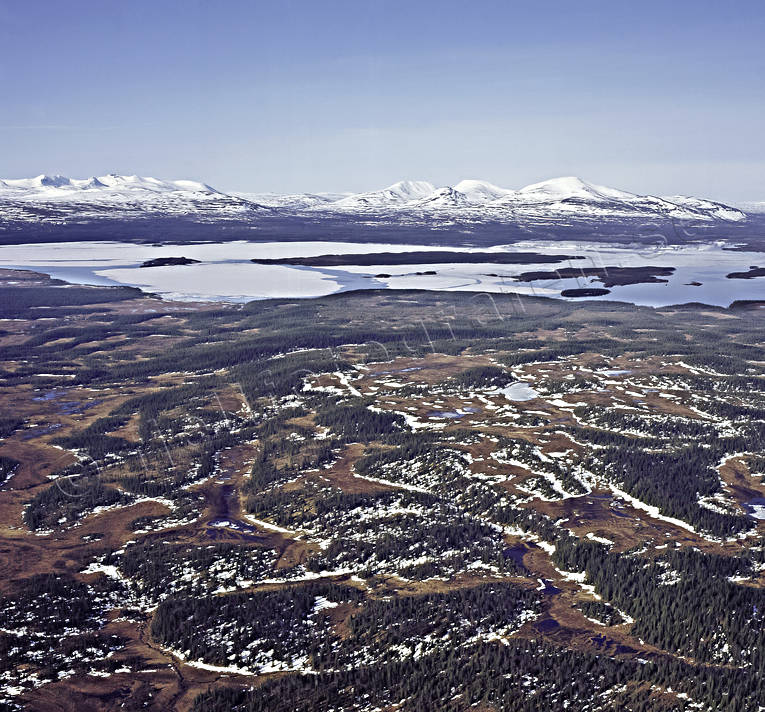 aerial photo, aerial pictures, Ann lake, drone aerial, Jamtland, landscapes, mountain, spring, sylarna