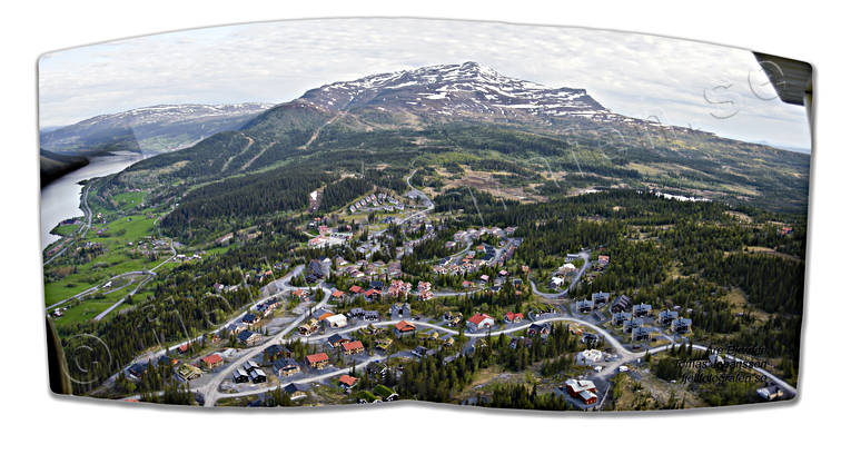 aerial photo, aerial pictures, Are, Areskutan, drone aerial, installations, Jamtland, landscapes, panorama, panorama pictures, samhällen, summer