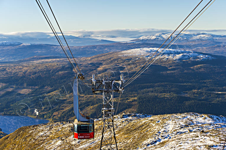 Are, Areskutan, autumn, cableway, fresh snow, Jamtland, landscapes, mountain, view