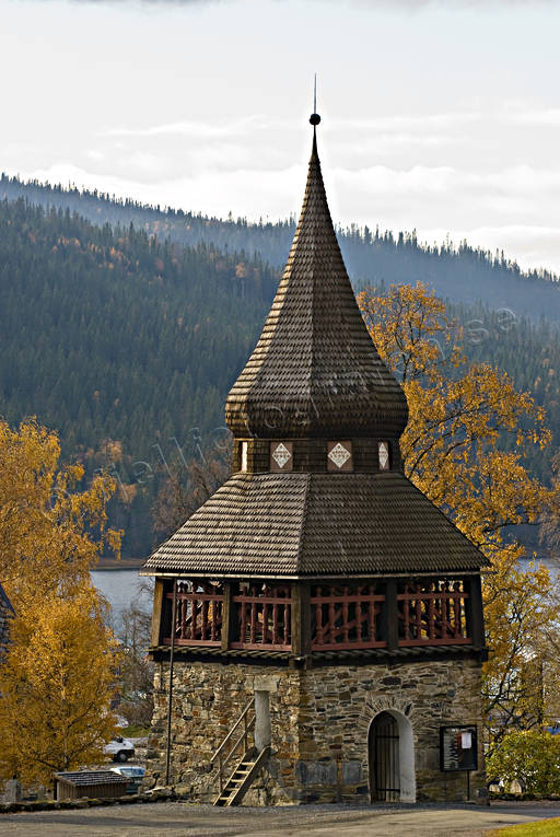 Are, autumn, autumn colours, bell tower, buildings, church, churches, Jamtland, samhällen, torn, tower