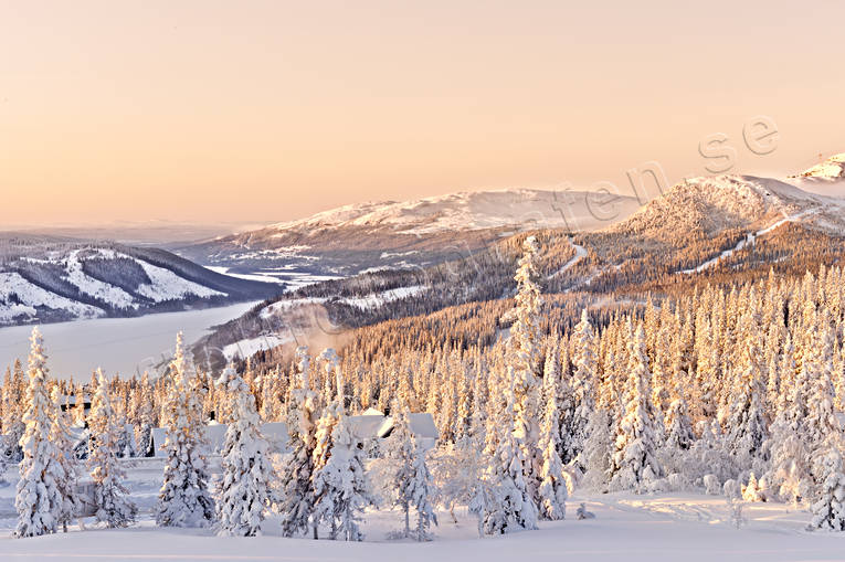 Are valley, cold, forest land, Jamtland, landscapes, mountain, mullfjallet, nature, winter