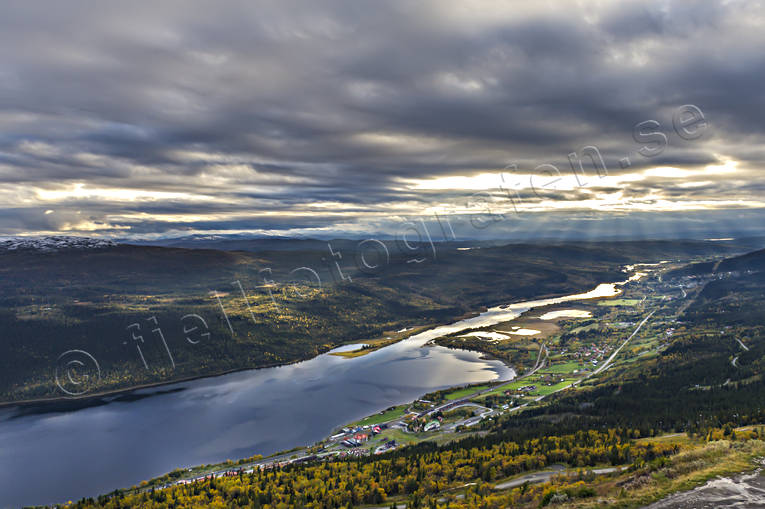 Are, Are lake, Are valley, autumn, autumn colours, Jamtland, landscapes, samhällen, sunrays, view