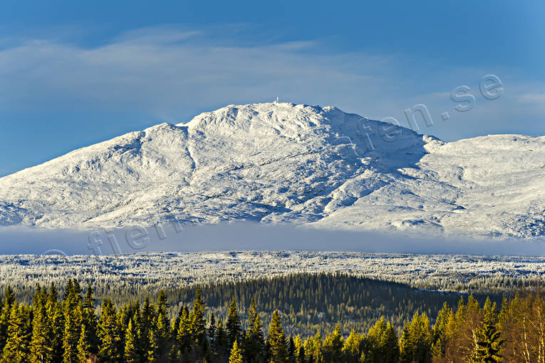 Areskutan, autumn, fresh snow, Jamtland, landscapes, mountain, mountain top, nature, woodland
