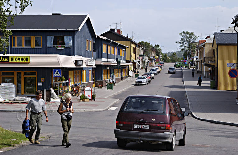 Arjeplog, community, Lapland, samhällen, summer, tourism, traffic