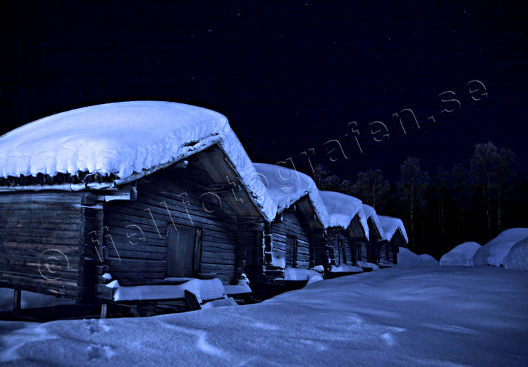 ambience, ambience pictures, Arvidsjaur, atmosphere, blue, buildings, christmas ambience, evening, house, Lapland, lapp town, night, saami person, sami cots, lapp cots, sami culture, snow, teepee, timbered, timbered, winter