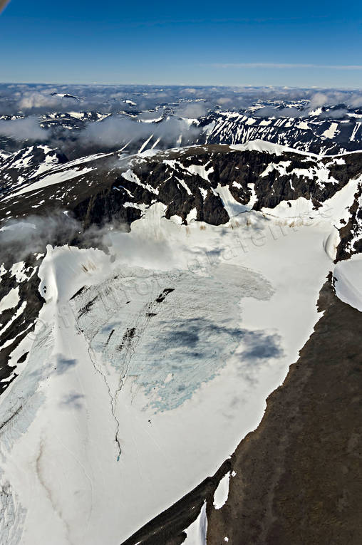 aerial photo, aerial pictures, Bjorlings, drone aerial, glacier, Kebnekaise, landscapes, Lapland, summer
