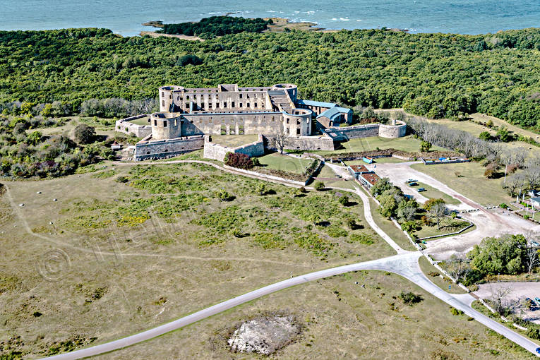 aerial photo, aerial pictures, Borgholm, Borgholms, castle ruin, drone aerial, landscapes, oland, ruin, summer