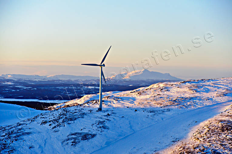 aerial photo, aerial pictures, Areskutan, Bydalen, drone aerial, Jamtland, landscapes, vindsnurra, West Mountain, wind power plants, winter
