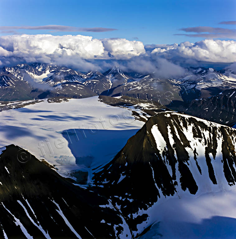 aerial photo, aerial photo, aerial photos, aerial photos, alpine, Axel Hamberg top, Channel Mount, drone aerial, drönarfoto, Jåkåtjkaskajekna, landscapes, Lapland, mountain pictures, national parks, Sarek, summer