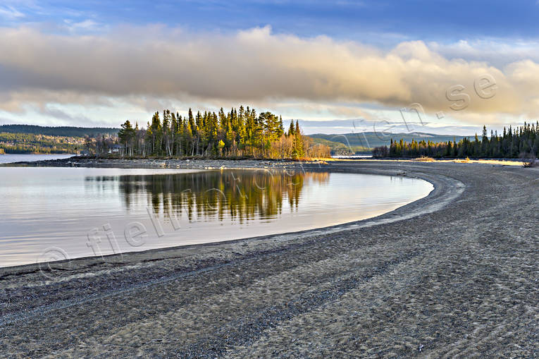 autumn, beach, Cold lake, Jamtland, lake, landscapes, nature, sand, seasons