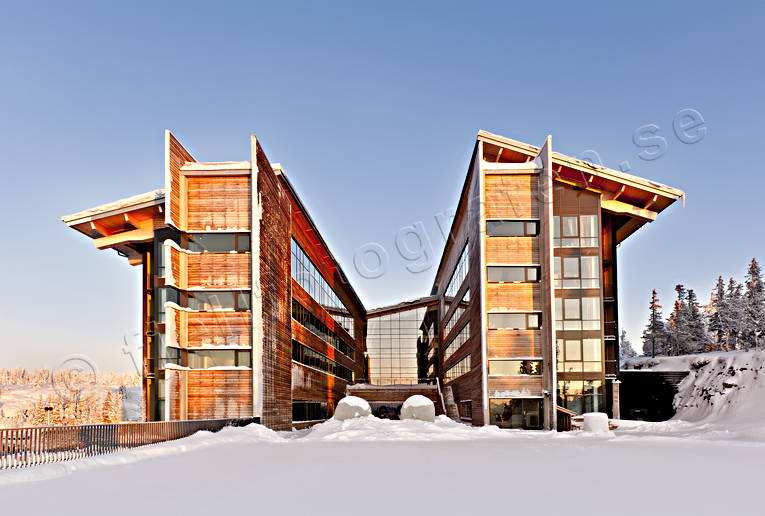 alpine mountains, Are, buildings, Copper Hill, engineering projects, house, Jamtland, landscapes, real estate, snow, winter