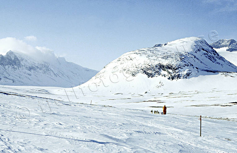 dogsled, Herrklumpen, Jamtland, landscapes, mountain, sylarna, winter