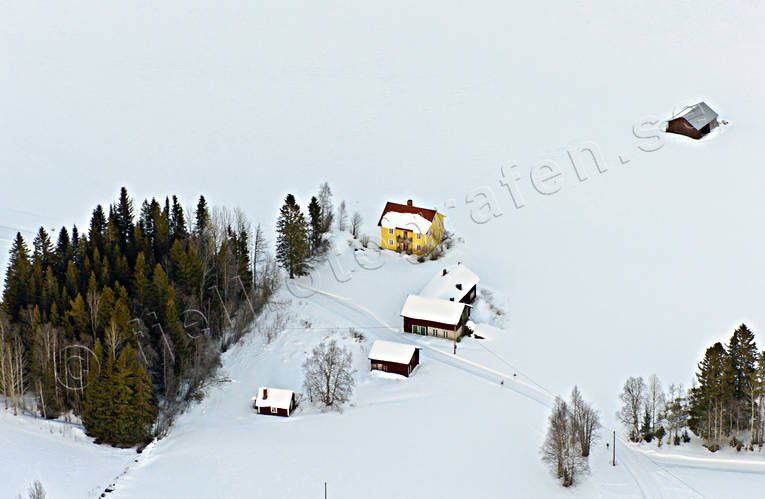 aerial photo, aerial pictures, drone aerial, farms, Höge, Jamtland, Marby, winter