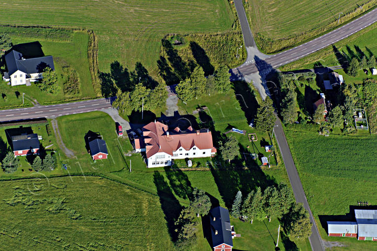 aerial photo, aerial pictures, drone aerial, farms, Hallviken, Jamtland, summer