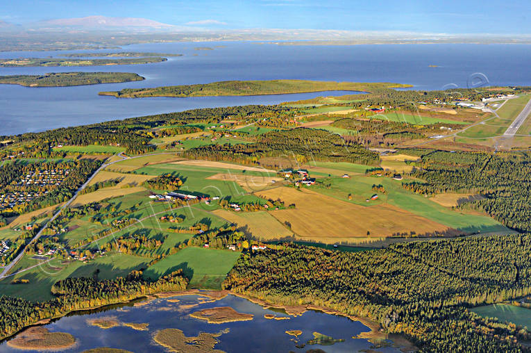 aerial photo, aerial pictures, And lake, autumn, drone aerial, Froson, Jamtland, Ostersund, städer