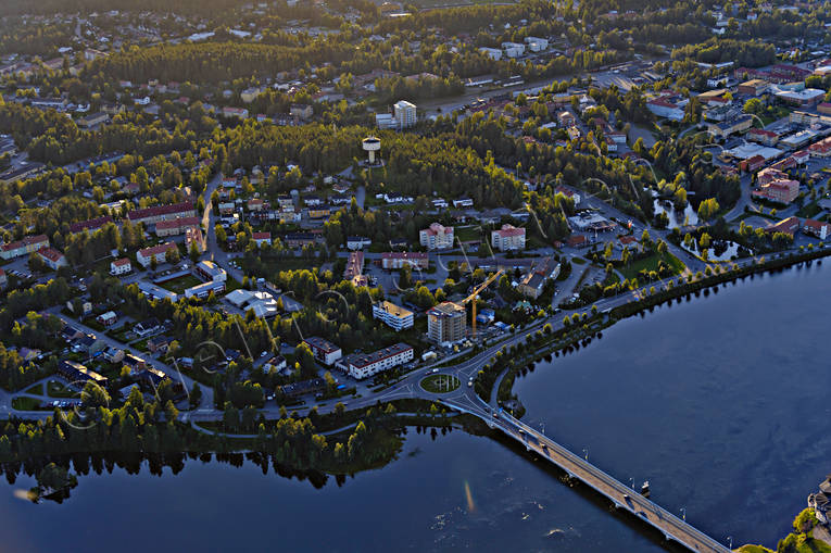 aerial photo, aerial pictures, drone aerial, Hotell Lappland, Lapland, Lycksele, samhällen, summer