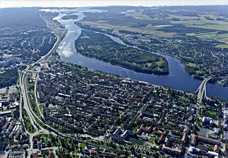 aerial photo, aerial pictures, autumn, drone aerial, städer, Umeå, West Bothnia
