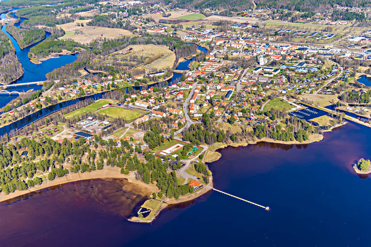 aerial photos, aerial picture, aerial pictures, Dalarna, flygbilder, Orsa, samhällen, spring