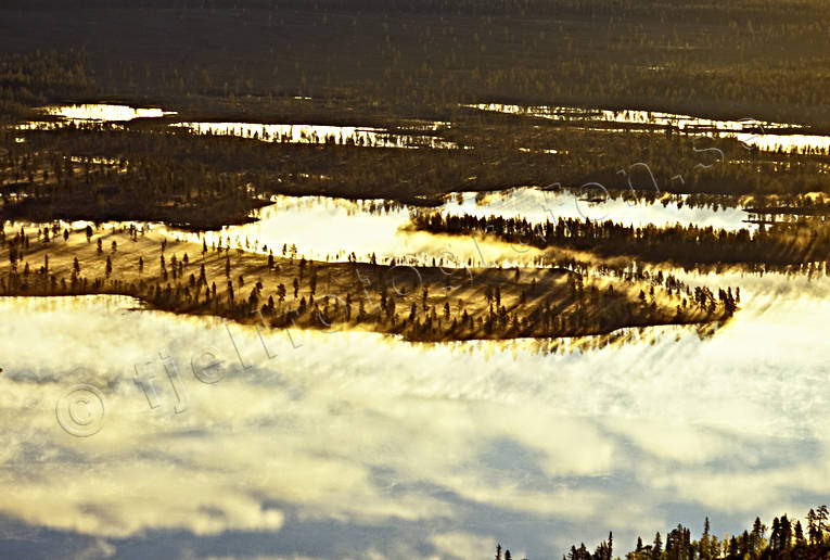 aerial photo, aerial photo, aerial photos, aerial photos, ambience, ambience pictures, atmosphere, autumn, bog soil, cloud, drone aerial, drönarfoto, fog, gold, landscapes, Lapland, mire, moory soil, season, seasons, Sweden, uninhabited, wasteland, wilderness, woodland, yellow