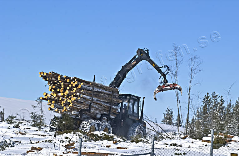 cutting area, felling, forest motor-tractor, forest worker, forestry, load, pulp wood, timber, timber, woodland, work