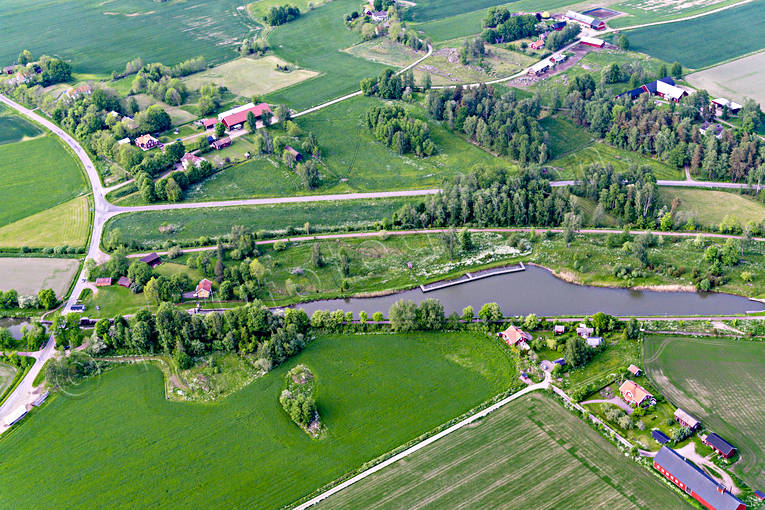 aerial photo, aerial pictures, attractions, channel, communications, drone aerial, Göta kanal, installations, landscapes, Riksberg, summer, Västergötland, water