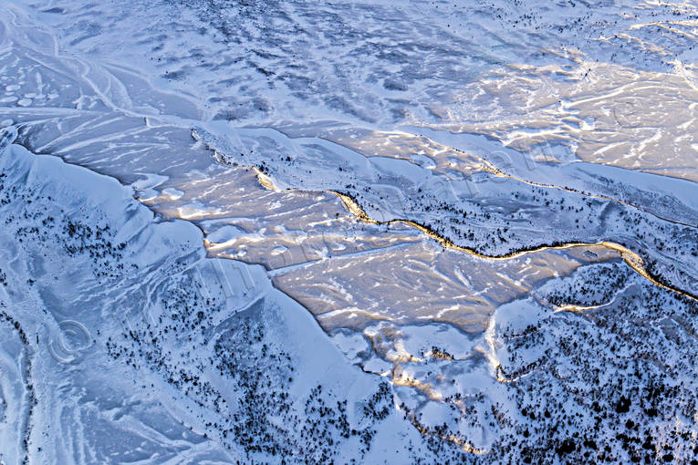 aerial photos, aerial picture, aerial pictures, dead ice area, flygbilder, Grondalen, issjön, istidsälvar, Jamtland, landscapes, Swedish Mountains, winter