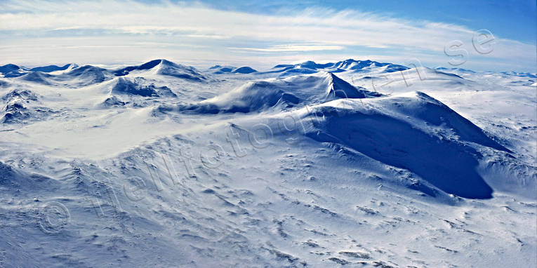 aerial photo, aerial pictures, drone aerial, Helags, Jamtland, landscapes, montage, mountain, panorama, panorama pictures, sylarna, winter