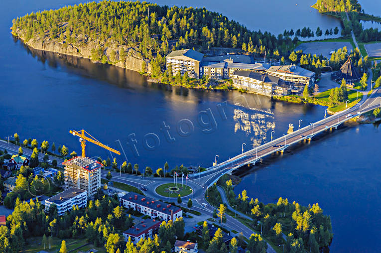 aerial photo, aerial pictures, drone aerial, Hotel Laponia, hotell, Hotell Lappland, installations, Lapland, Laponia, Lycksele, samhällen, summer