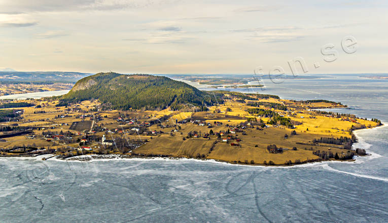 aerial photo, aerial photo, aerial photos, aerial photos, church, churches, drone aerial, drönarfoto, Great Lake, grotta, Hoverberg, Hoverberget, Jamtland, landscapes, spring, spring ice, villages