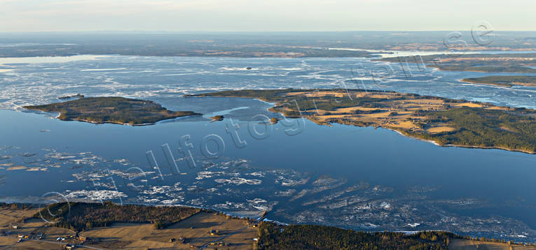 aerial photo, aerial pictures, drone aerial, Great Lake, Håkansta, ice break-up, Jamtland, jarsta, landscapes, Norderon, spring, Verkon, Västanede