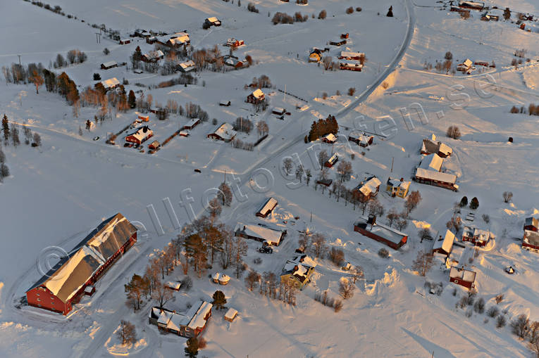 aerial photo, aerial pictures, drone aerial, farms, Jamtland, winter