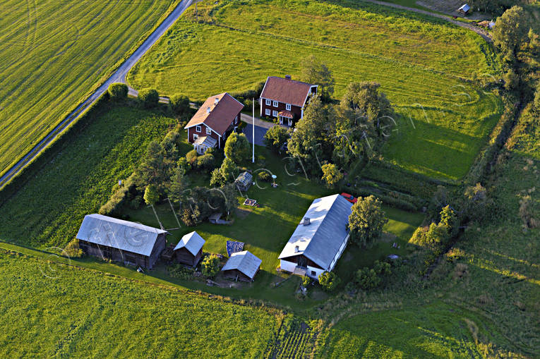aerial photo, aerial pictures, drone aerial, farms, Jamtland, summer