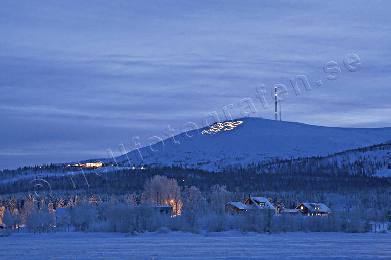 blue, Dundret, evening, Gallivare, julstämmning, landscapes, Lapland, mid-winter, mountain, night, night picture image, winter, winter's night, winter's night
