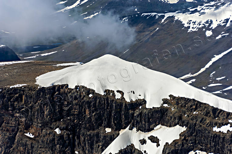 aerial photo, aerial pictures, drone aerial, Kebnekaise, landscapes, Lapland, Laponia, South Peak, summer
