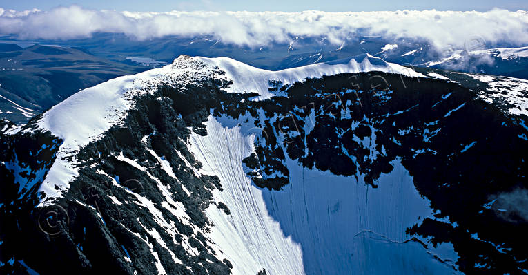 aerial photo, aerial photo, aerial photos, aerial photos, avalanche, avalanche danger, cloud, clouds upper side, drone aerial, drönarfoto, fjällbilder, fjällstup, glacier, Kebnekaise, landscapes, Lapland, mountain, mountain peaks, mountain slope, mountain top, Nordtoppen, precipice, precipice  steep, Rabots, South Peak, summer, Swedish Mountains, top