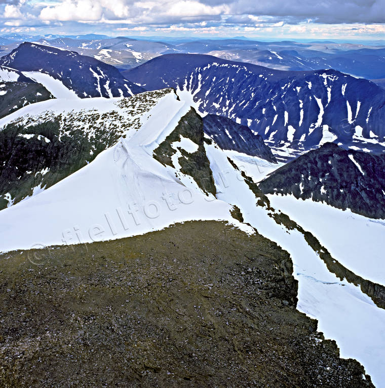aerial photo, aerial pictures, ascendence, drone aerial, Kebnekaise, klättring, landscapes, Lapland, mountain peaks, South Peak, summer, top