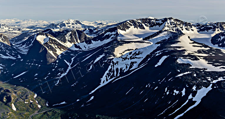 aerial photo, aerial photo, aerial photos, aerial photos, drone aerial, drönarfoto, Kebnekaise, Laddjuvaggi, landscapes, Lapland, mountain, Swedish Mountains